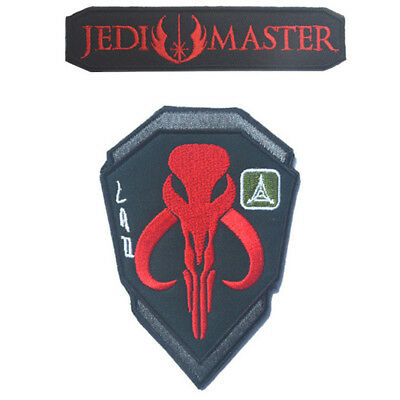 2 Pcs Star Wars Jedi Tactical U.s. Army Tac Embroidered Morale Badge Hook Patch