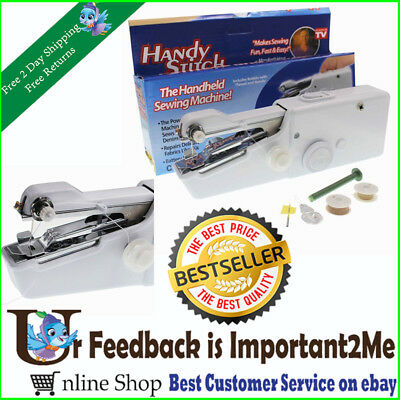 Portable Hand-Held Sewing Machine Cordless Electric Household Tailor Stitch Tool
