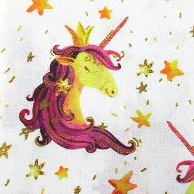 FABRIC STAR MOON HABERDASHERY BUTTONS PRINT POLYCOTTON BLEND 50X145CM//20X58 IN