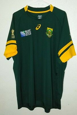 a4e72ba501e MENS ASICS SOUTH AFRICA 2015 Rugby World Cup Jersey Shirt size 3XL ...
