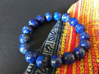 Old Afghanistan Lapis Beaded Bracelet …beautiful accent piece