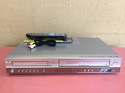 Serviced LG V9120 Combo VCR DVD player + Video Recorder + Remote + RCA VHS D