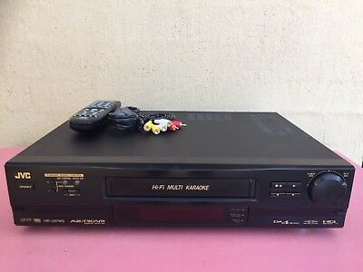 Serviced JVC HR-J97MS Stereo Video Karaoke Recorder Player remote Player VCR