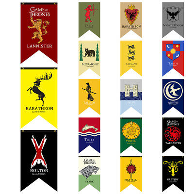 House Banner Game Of Thrones Flag Decor Stark Hanging Banner Gardon Tournament