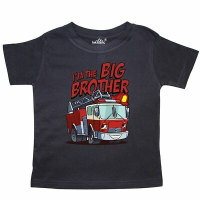 Inktastic Big Brother Fire Truck Toddler T-Shirt Engine Tees. Gift Child Kid