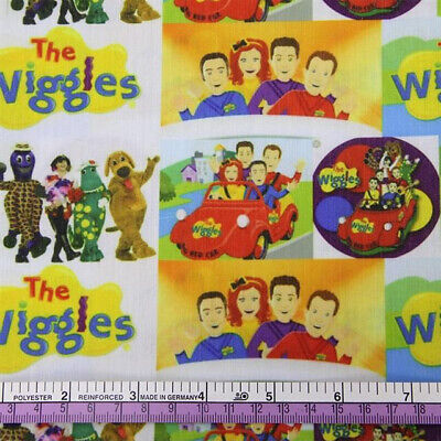 Fabric The Wiggles Kids Band Rainbow Print Polycotton Blend 50 X 145Cm/20*58""