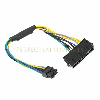 1PC ATX Power Supply Cable 24pin To 8pin For DELL Optiplex 3020 7020 9020 T1700