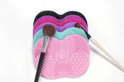 Silicone MakeupBrush Cleaner Pad Washing Scrubber Board Cleaning Mat Hand Tool Y