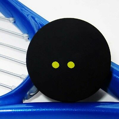 Squash Ball Two-Yellow Dots Low Speed Sports Rubber Balls Pro Player Tool Pro