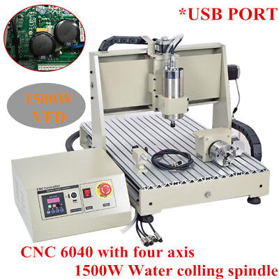 3/4 Axis USB 6040 1500W cnc router engraver engraving milling drilling machine