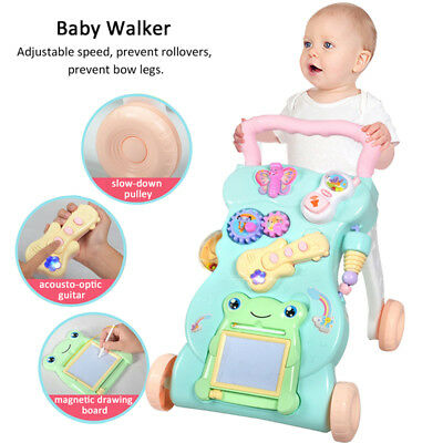 Toddler Sit-to-Stand Learning Walker Baby Sliding Car Crawl Toy First Step