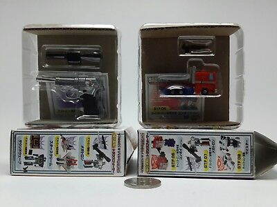 Worlds Smallest Transformers WST Megatron and Optimus Prime G1 Lot of 2