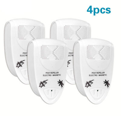 4PCS Ultra Sonic Repellent Plug-In Rat/Mouse/Rodent Repeller Deterrent
