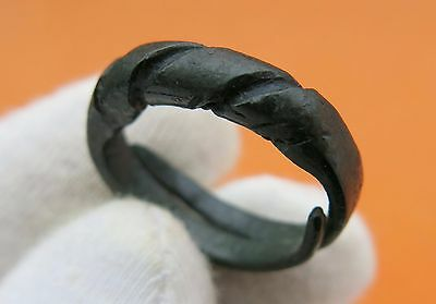 Ancient Viking Twisted Bronze Ring