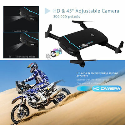 Foldable 720P HD Camera Selfie Drone Wifi FPV App Control RC Quadcopter Gift