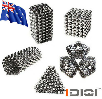 5MM Cube Bucky Balls Kids Adult DIY Toys Spacer Beads Jewelry
