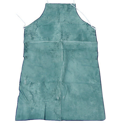 Welder Apron Welding Protection Apparel Cowhide Leather Fire Resistant Blue