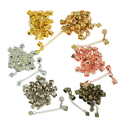 10pcs Jewelry Making Finding Set Lobster Clasps Cord End & Extension Chain