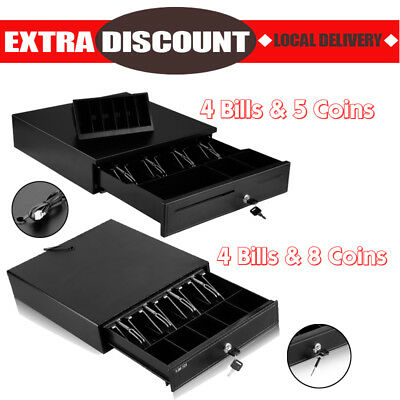 4 Bills 5/8 Coins Heavy Duty Electronic Cash Drawer Tray Cash Register POS RJ11
