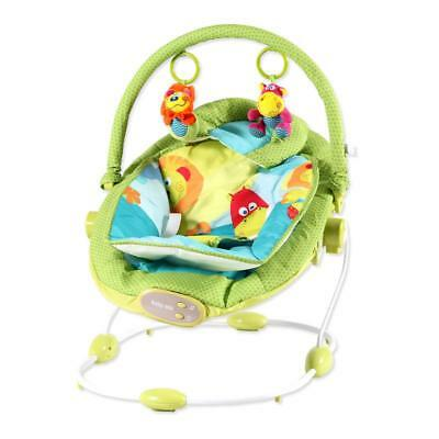 Baby Bouncing Chair with Sound Green 64x48x65cm Bouncer Swing Lying Child