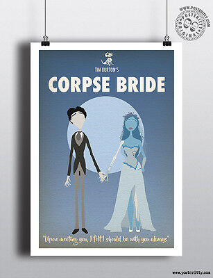 CORPSE BRIDE - Minimalist Movie Poster Posteritty Minimal Print Art Tim Burton