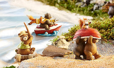 Fairy Garden Mini - Happy Campers - Camping Activity Bears - Set of 3