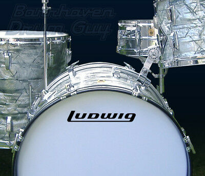 Ludwig, 70s Vintage, Repro Logo - Adhesive Vinyl Decal, for Bass Drum Reso Head