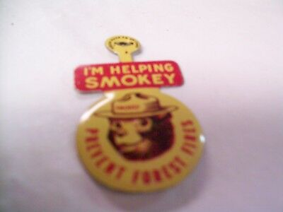 Vintage I'm Helping Smokey Prevent Forest Fires Pins