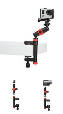 GoPro Clamp Locking Arm Action Camera Grip Sports Video Photography Equipment