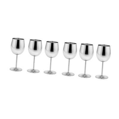 Practical Metal Wine Goblet Champagne Cup Red Wine Cocktail Mug Pack of 6