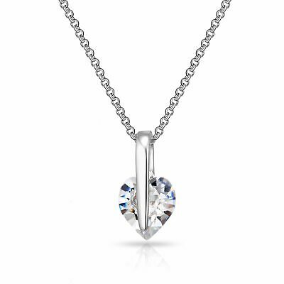 Solitaire Heart Necklace Created with Swarovski® Crystals by Philip Jones