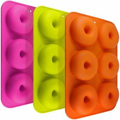 fineg ood FG Molds 3 3 Pack Silicone Donut forme, 6 cavità Safe (x8i)