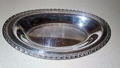 Vintage Oval Silver Plated Serving Tray