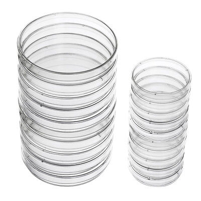 Plastic Petri Dish Sterile Dishes with Lid, 100 mm and 60 mm, 20 Pcs Q6J1 Y7V YS