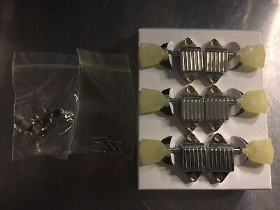 KLUSON DELUXE WAFFLEBACK 3x3 nickel guitar tuners tuning pegs for your Gibson