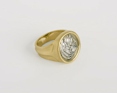 Men Antique Coin Ring, Large Authentic Alexander the Great Greek Coin Ring 10.5
