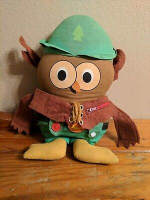 Woodsy Owl 1973 Plush Doll Retro Toys Give a Hoot Earth Day Recycle Environment