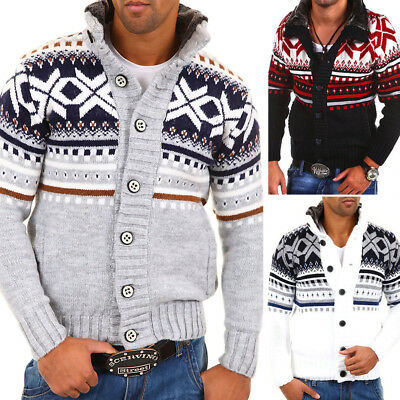 Carisma Men's Cardigan Sweater Jumper Knitted Jacket Pullover 7011