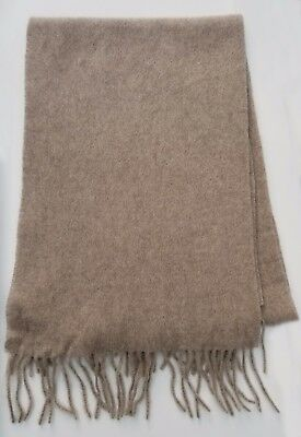 """JOSEPH ABBOUD unisex Oatmeal 100% Cashmere Scarf 63""""X11.5"""" Made In Germany NWT"""