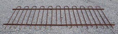 """Antique Architectural Salvage Wrought Iron Fence Section 90"""" #3"""