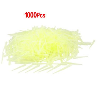 Laboratory Clear Yellow 200UL Lab Liquid Pipette Pipettor Tips 1000 Pcs Y1L F YS