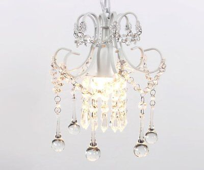 Mini Rustic Crystal Chandelier Ceiling Pendant Light Vintage Elegant Lighting
