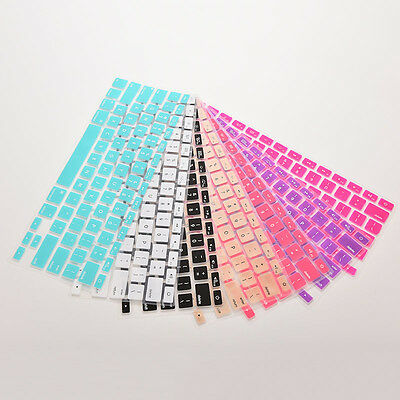Silicone Keyboard Cover protector Skin for Macbook air Pro MAC 13 15 17 UK STOCK