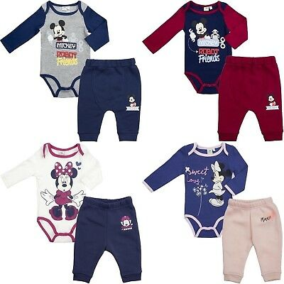 Disney Baby Boys Girls Mickey Minnie 2 pieces baby set pants + body 3-24 months