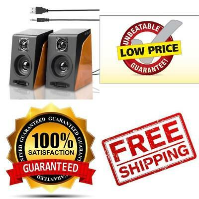Wired Computer Speakers USB Powered Stereo Speakers For Tablet,Laptop,PC,Desktop