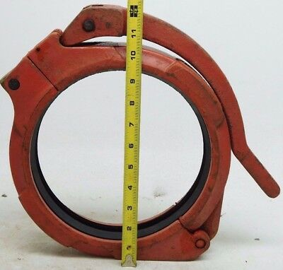 "NOS! 8"" ANVIL HINGELOK GRUVLOK Fig.7003 Handle Pull Clamp 219.1mm FREE SHIP (SW)"