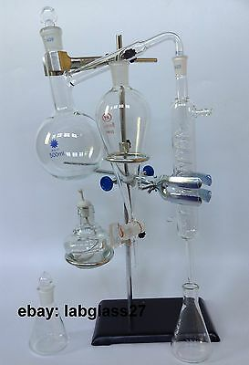 Essential oil steam distillation apparatus kit
