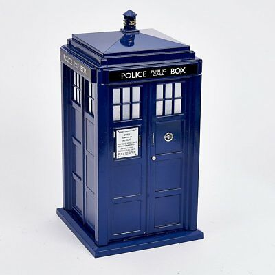 Doctor Who Tardis Light Up Christmas Tree Topper Blue Police Box Decoration New