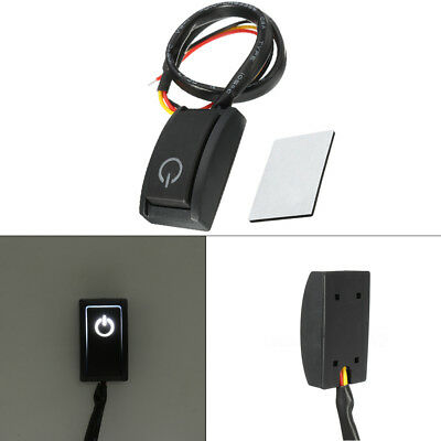 DC12V/200mA Car Push Button Latching Turn ON/OFF Switch LED Light RV Truck 1pc