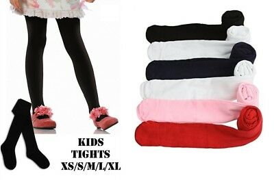 2 ,3 Pk Girl Knit Winter Solid Footed Ribbed Tights School Dance Party S-Xl